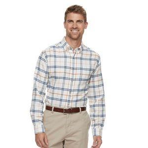 Croft & Barrow Classic Fit Flannel Shirt, Large